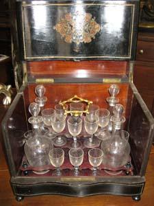 Cofanetto porta liquori da viaggio napoleone iii - Carrello porta liquori ...